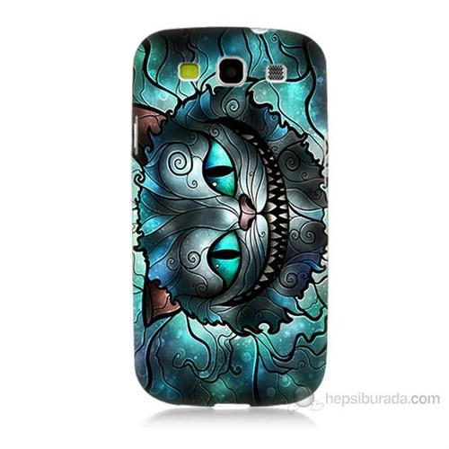 Teknomeg Samsung Galaxy S3 Alice Kedi Baskılı Silikon Kılıf