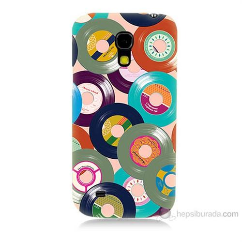 Teknomeg Samsung Galaxy S4 Mini Renkli Plaklar Baskılı Silikon Kılıf