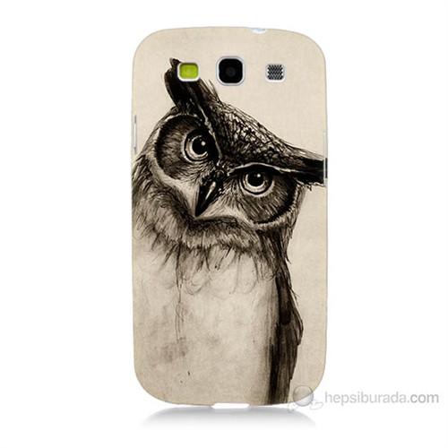 Teknomeg Samsung Galaxy S3 Düşünen Baykuş Baskılı Silikon Kılıf