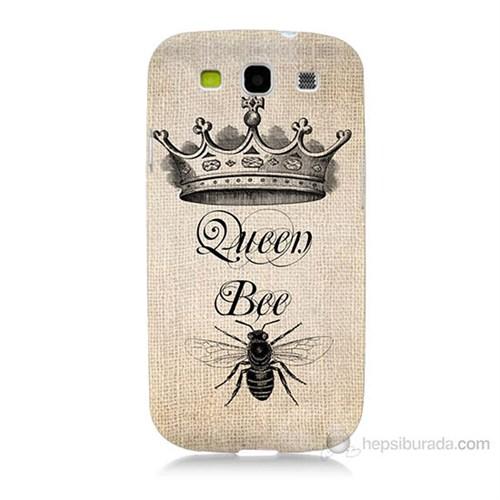 Teknomeg Samsung Galaxy S3 Queen Bee Baskılı Silikon Kılıf