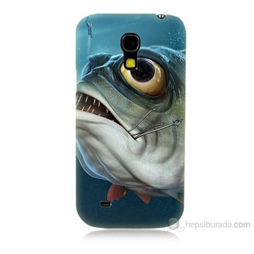 Teknomeg Samsung Galaxy S4 Mini Balık Baskılı Silikon Kılıf