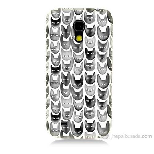 Teknomeg Samsung Galaxy S4 Mini Kediler Baskılı Silikon Kılıf