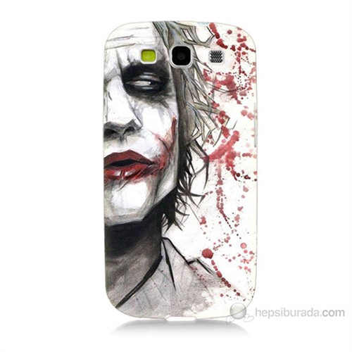 Teknomeg Samsung Galaxy S3 Kanlı Joker Baskılı Silikon Kılıf
