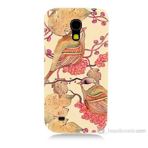 Teknomeg Samsung Galaxy S4 Mini Kuşlar Baskılı Silikon Kılıf
