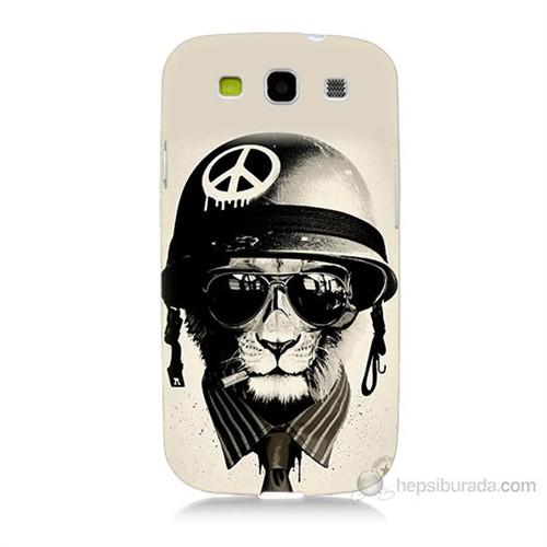 Teknomeg Samsung Galaxy S3 Barışçı Aslan Baskılı Silikon Kılıf