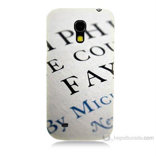 Teknomeg Samsung Galaxy S4 Mini Yazılar Baskılı Silikon Kılıf