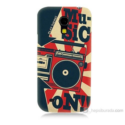 Teknomeg Samsung Galaxy S4 Mini Müzik Baskılı Silikon Kılıf
