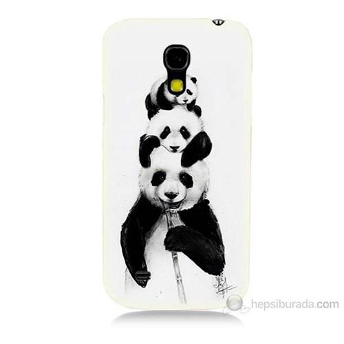 Teknomeg Samsung Galaxy S4 Mini Panda Ailesi Baskılı Silikon Kılıf