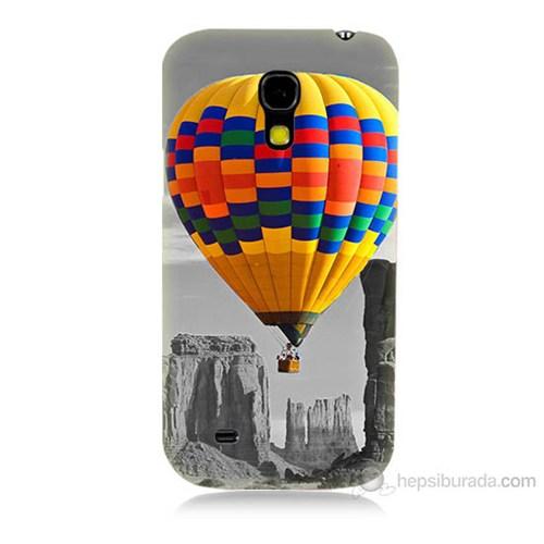Teknomeg Samsung Galaxy S4 Mini Renkli Uçan Balon Baskılı Silikon Kılıf