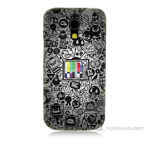 Teknomeg Samsung Galaxy S4 Mini Renkli Tv Baskılı Silikon Kılıf