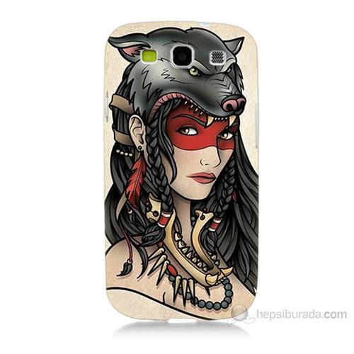 Teknomeg Samsung Galaxy S3 Pocahontas Baskılı Silikon Kılıf