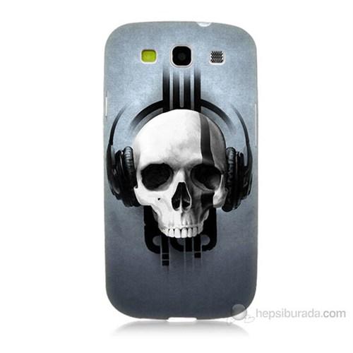 Teknomeg Samsung Galaxy S3 Müzik Dinleyen Kurukafa Baskılı Silikon Kılıf