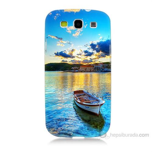 Teknomeg Samsung Galaxy S3 Gün Batımında Deniz Baskılı Silikon Kılıf