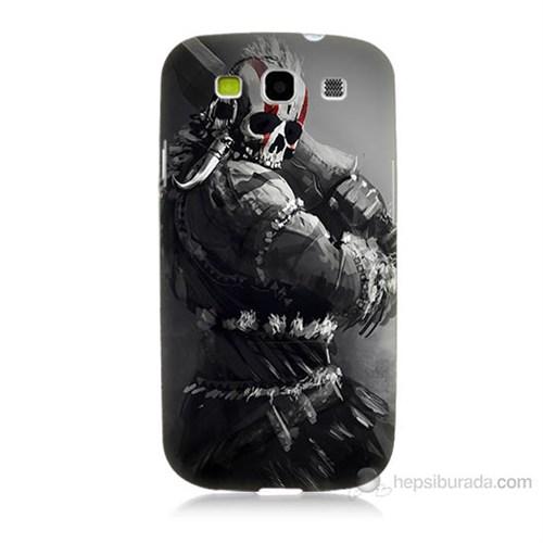 Teknomeg Samsung Galaxy S3 Tribal Warrior Baskılı Silikon Kılıf