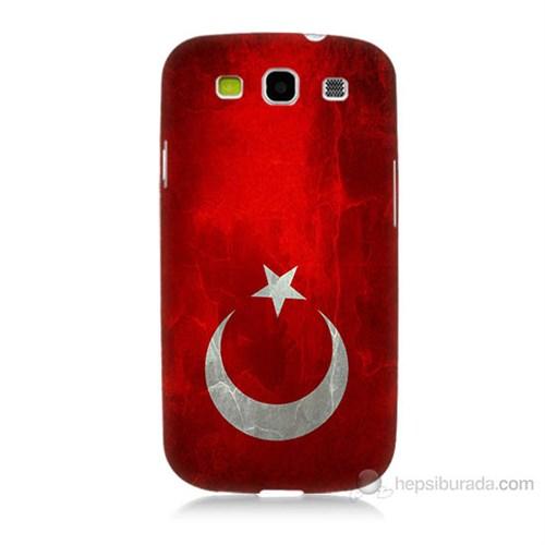 Teknomeg Samsung Galaxy S3 Türkiye Bayrağı Baskılı Silikon Kılıf
