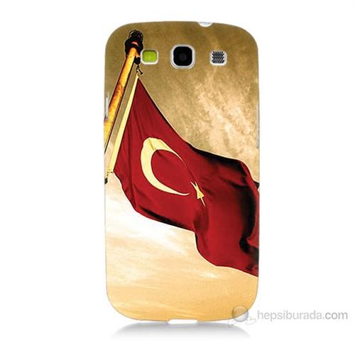 Teknomeg Samsung Galaxy S3 Türk Bayrağı Baskılı Silikon Kılıf
