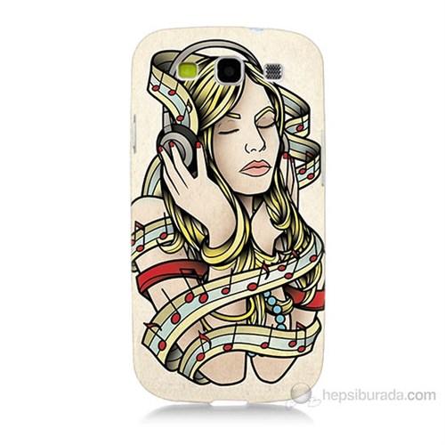 Teknomeg Samsung Galaxy S3 Müzik Aşkı Baskılı Silikon Kılıf