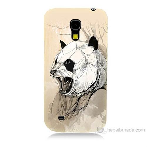 Teknomeg Samsung Galaxy S4 Mini Kavgacı Panda Baskılı Silikon Kılıf