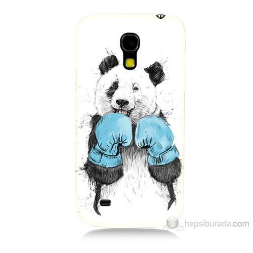 Teknomeg Samsung Galaxy S4 Mini Boksör Panda Baskılı Silikon Kılıf