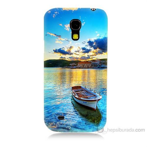 Teknomeg Samsung Galaxy S4 Mini Gün Batımında Deniz Baskılı Silikon Kılıf