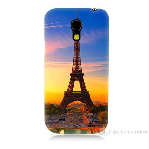 Teknomeg Samsung Galaxy S4 Mini Eyfelde Gün Batımı Baskılı Silikon Kılıf