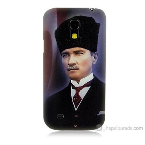 Teknomeg Samsung Galaxy S4 Mini Mustafa Kemal Atatürk Baskılı Silikon Kılıf