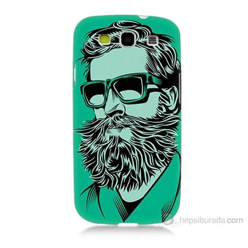 Teknomeg Samsung Galaxy S3 Beard Art Baskılı Silikon Kılıf
