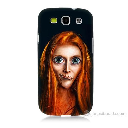 Teknomeg Samsung Galaxy S3 Zombie Kız Baskılı Silikon Kılıf