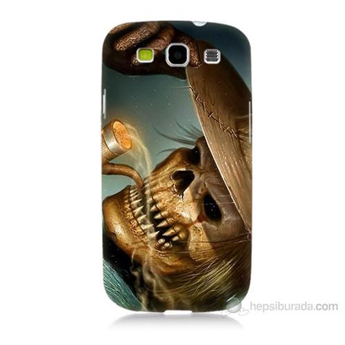 Teknomeg Samsung Galaxy S3 Pipolu Kurukafa Baskılı Silikon Kılıf