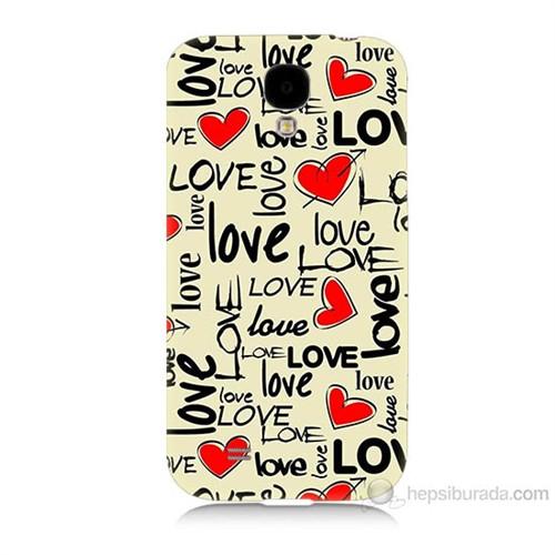 Teknomeg Samsung Galaxy S4 Love Baskılı Silikon Kılıf