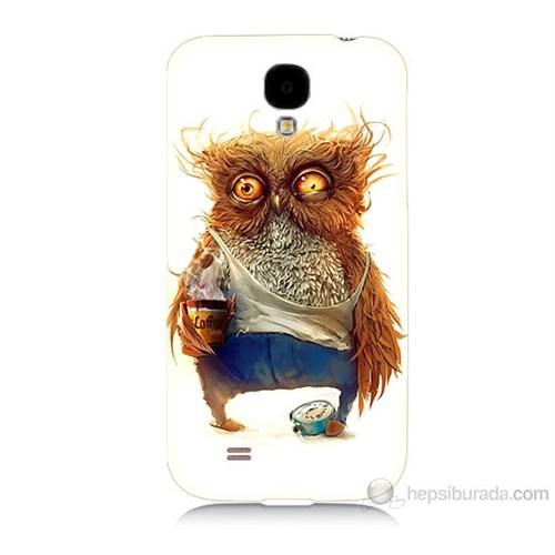 Teknomeg Samsung Galaxy S4 Miskin Baykuş Baskılı Silikon Kılıf