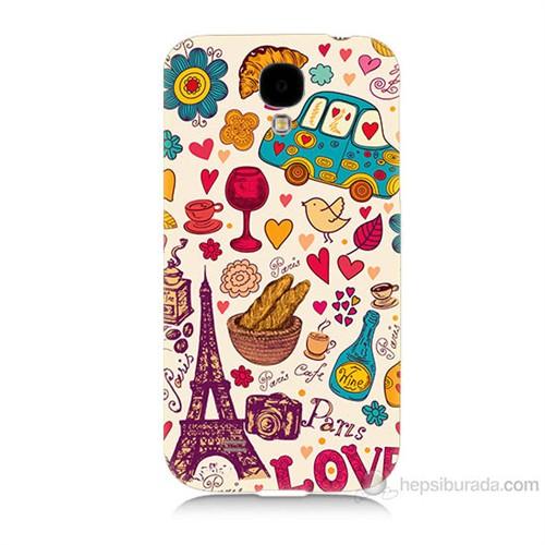 Teknomeg Samsung Galaxy S4 Paris Love Baskılı Silikon Kılıf