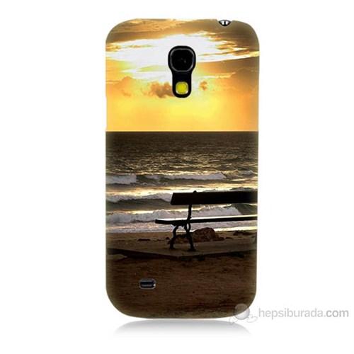 Teknomeg Samsung Galaxy S4 Mini Gün Batımı Baskılı Silikon Kılıf