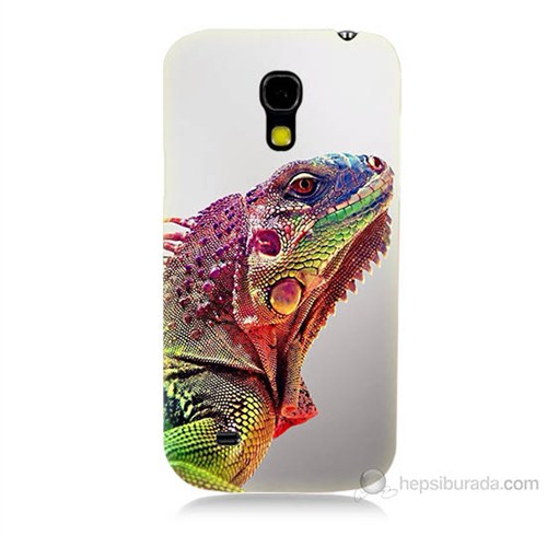 Teknomeg Samsung Galaxy S4 Mini İguana Baskılı Silikon Kılıf