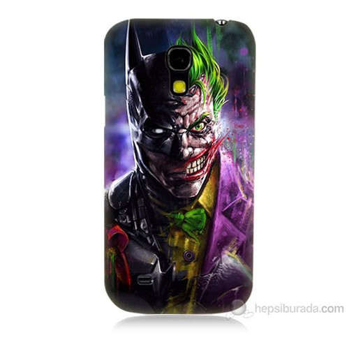 Teknomeg Samsung Galaxy S4 Mini Batman Vs Joker Baskılı Silikon Kılıf