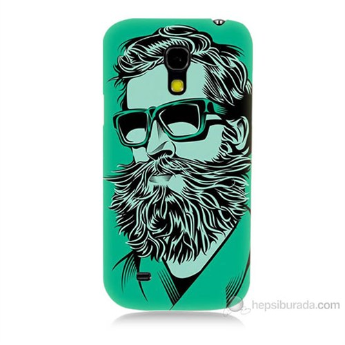 Teknomeg Samsung Galaxy S4 Mini Beard Art Baskılı Silikon Kılıf