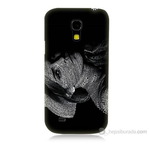 Teknomeg Samsung Galaxy S4 Mini Yazılı Kadın Baskılı Silikon Kılıf