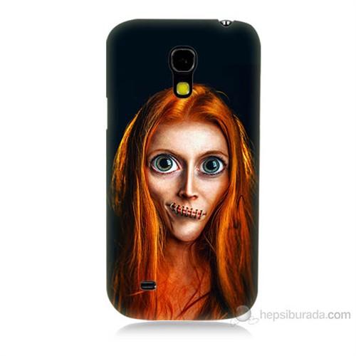 Teknomeg Samsung Galaxy S4 Mini Zombie Kız Baskılı Silikon Kılıf