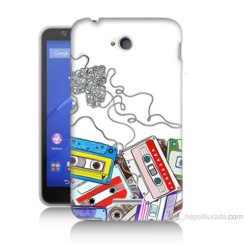 Teknomeg Sony Xperia E4G Kasetler Baskılı Silikon Kılıf