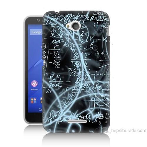 Teknomeg Sony Xperia E4G Matematik Baskılı Silikon Kılıf
