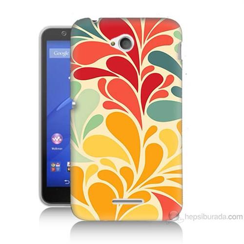 Teknomeg Sony Xperia E4G Çiçekler Baskılı Silikon Kılıf