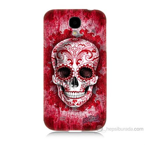 Teknomeg Samsung Galaxy S4 Kırmızı İskelet Baskılı Silikon Kılıf