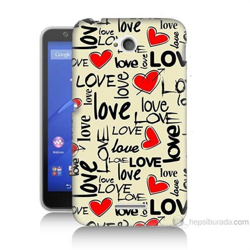Teknomeg Sony Xperia E4G Love Baskılı Silikon Kılıf