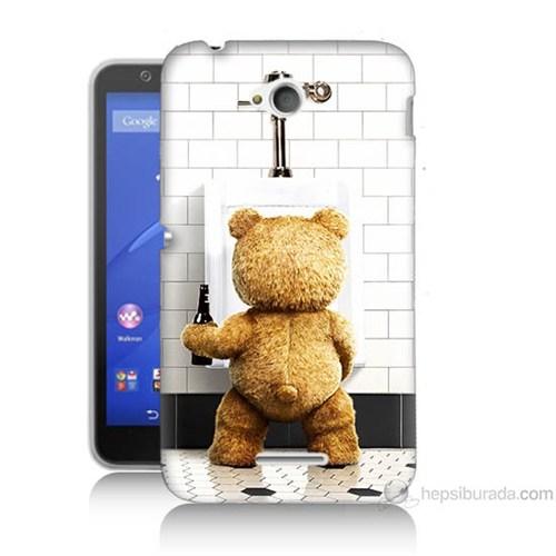 Teknomeg Sony Xperia E4G Tedy Bear Baskılı Silikon Kılıf