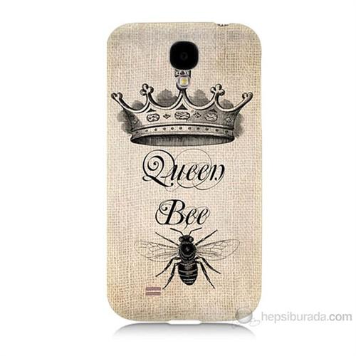 Teknomeg Samsung Galaxy S4 Queen Bee Baskılı Silikon Kılıf