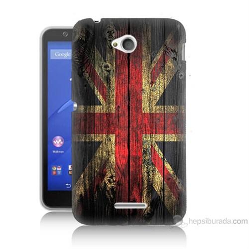 Teknomeg Sony Xperia E4G İngiliz Bayrağı Baskılı Silikon Kılıf