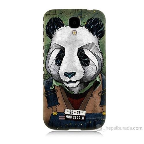 Teknomeg Samsung Galaxy S4 İşçi Panda Baskılı Silikon Kılıf