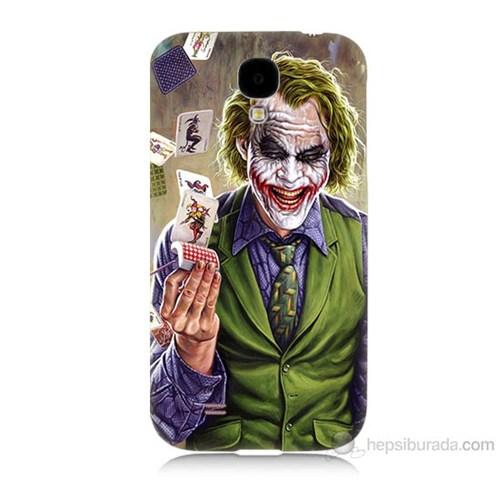 Teknomeg Samsung Galaxy S4 Kartlı Joker Baskılı Silikon Kılıf