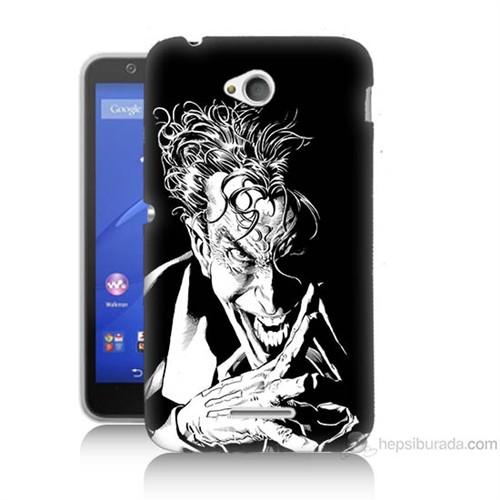 Teknomeg Sony Xperia E4G Gülen Joker Baskılı Silikon Kılıf