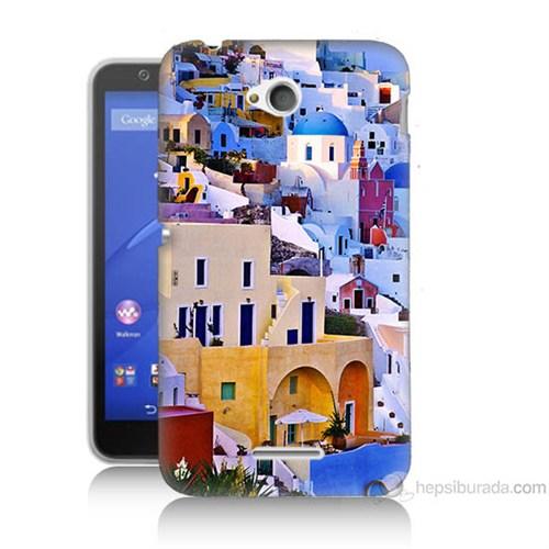 Teknomeg Sony Xperia E4G İbiza Baskılı Silikon Kılıf